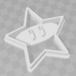 Download 3D printer files Super mario star cookie cutter, PrintCraft