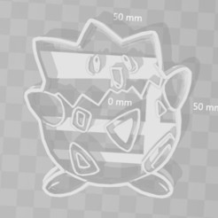 STL Togepi pokemon cookie cutter, PrintCraft