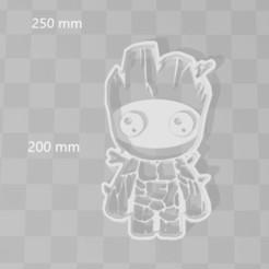 Download 3D printer designs Baby grut galaxy guardians avenger cookie cutter, PrintCraft