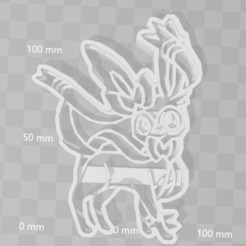 STL sylveon pokemon cookie cutter, PrintCraft