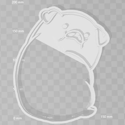 STL files Duck Gravity Falls cookie cutter, PrintCraft