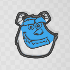 sully.PNG Download STL file Sully cookie - monster inc • Template to 3D print, PrintCraft
