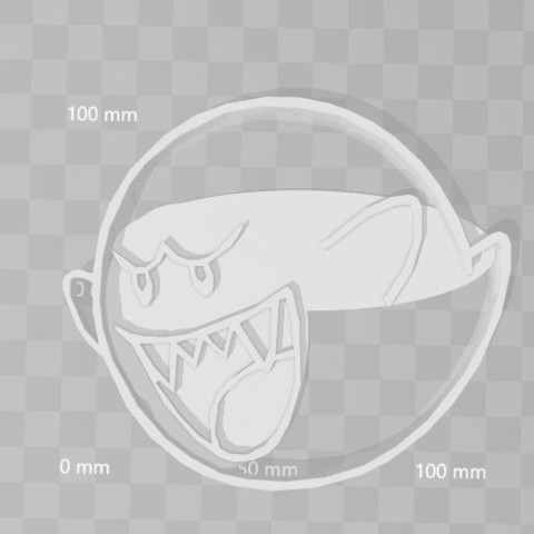 3D printing model Buu mario bros cookie cutter, PrintCraft