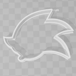 Descargar modelos 3D para imprimir sonic the headhog cookie cutter, PrintCraft