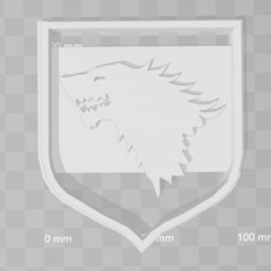 Descargar modelos 3D stark house game of thrones cookie cutter, PrintCraft