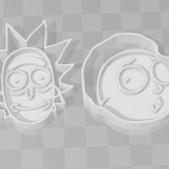 3D print files Rick and morty cookie cutter set x2, PrintCraft