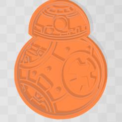 Descargar archivos STL bb8 cookie cutter star wars, PrintCraft