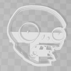 3D printer files Zombie head plants vz zombies cookie cutter, PrintCraft