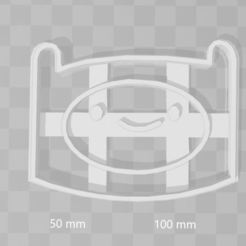 Download STL file Finn adventure time cookie cutter, PrintCraft
