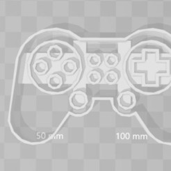 Télécharger fichier 3D Joystick Gamepad gamer cookie cookie cuter, PrintCraft
