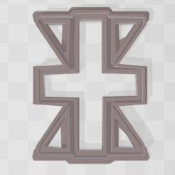 cruz 1.PNG Télécharger fichier STL Cookie emblème de Digimon - Fiabilité • Design pour impression 3D, PrintCraft