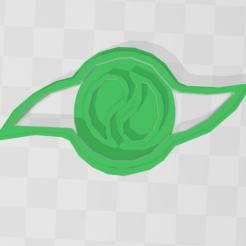 destino 1.PNG Télécharger fichier STL Biscuit emblème de Digimon - Destin • Design pour impression 3D, PrintCraft