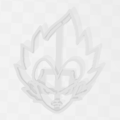Impresiones 3D Vegetta - Dragon Ball - Cookie Cutter, PrintCraft