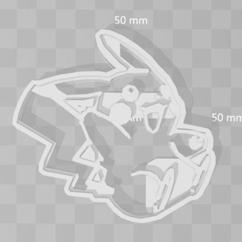 3D printer models pikachu pokemon cookie cutter, PrintCraft