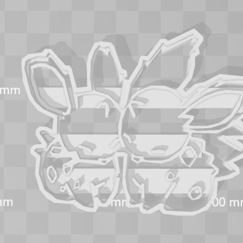 Descargar diseños 3D nidoran pokemon cookie cutter love, PrintCraft