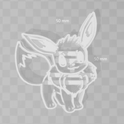 3D printer files eevee pokemon cookie cutter, PrintCraft