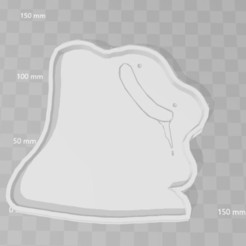 Modelos 3D para imprimir ditto pokemon cookie cutter, PrintCraft