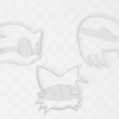 Download 3D printer designs Sonic The HedgeHog Super Cookie Cutter Bundle x 3, PrintCraft