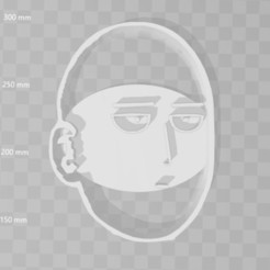 Download 3D printer templates Saitama One Punch Man cookie cutter, PrintCraft