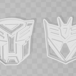 3D printer models Tranformers Logo cookie cutter x2, PrintCraft