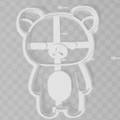 Descargar diseños 3D Rillakuma Bear cookie cutter, PrintCraft