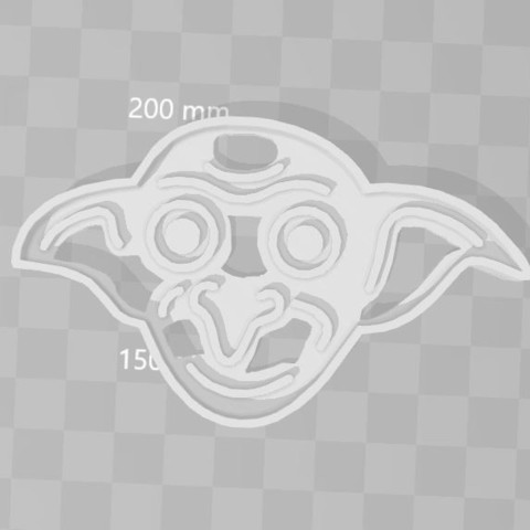 3D printing model Dobi Harry Potter cookie cutter, PrintCraft