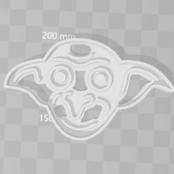 Download 3D printer designs Dobi Harry Potter cookie cutter, PrintCraft