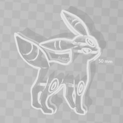 Download 3D printer model umbreon pokemon cookie cutter, PrintCraft