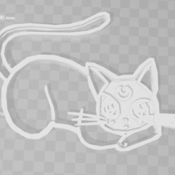 Download 3D print files sailor moon blakcat luna cookie cutter, PrintCraft
