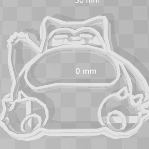 STL file snorlax pokemon cookie cutter, PrintCraft