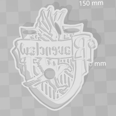 STL files Ravenclaw Harry Potter cookie cutter, PrintCraft