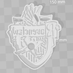 Download 3D printing files Ravenclaw Harry Potter cookie cutter, PrintCraft