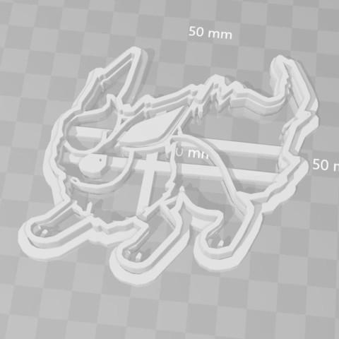 STL file flareon pokemon cookie cutter, PrintCraft