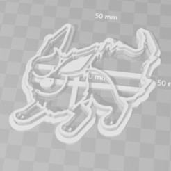 Download 3D printing designs flareon pokemon cookie cutter, PrintCraft