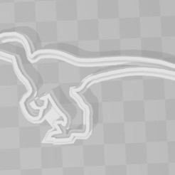STL file Velociraptr Dinosaur cookie cutter, PrintCraft