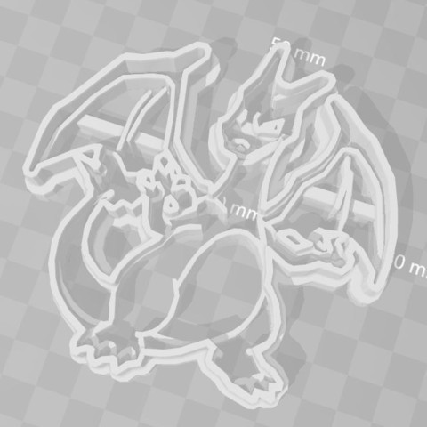 Download 3D printing files charizard pokemon cookie cutter, PrintCraft
