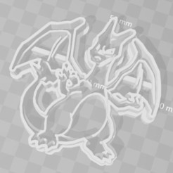 STL charizard pokemon cookie cutter, PrintCraft