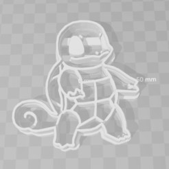 3D printing model squirtle pokemon cookie cutter, PrintCraft