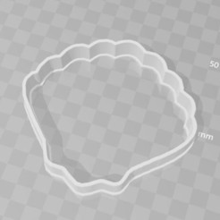 STL shell sea cookie cutter, PrintCraft