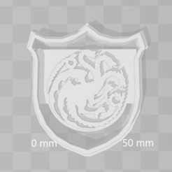 Descargar archivos STL targaryen house game of thrones cookie cutter, PrintCraft