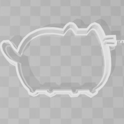STL file Pusheen cookie cutter, PrintCraft