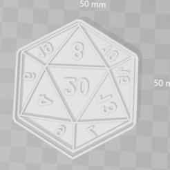 Descargar diseños 3D d20 dice rol cookie cutter, PrintCraft