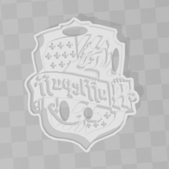 STL files Hufflepuff Harry Potter cookie cutter, PrintCraft