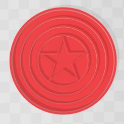 capi.PNG Télécharger fichier STL Captain America - Coupeuse de biscuits Marvel • Objet imprimable en 3D, PrintCraft