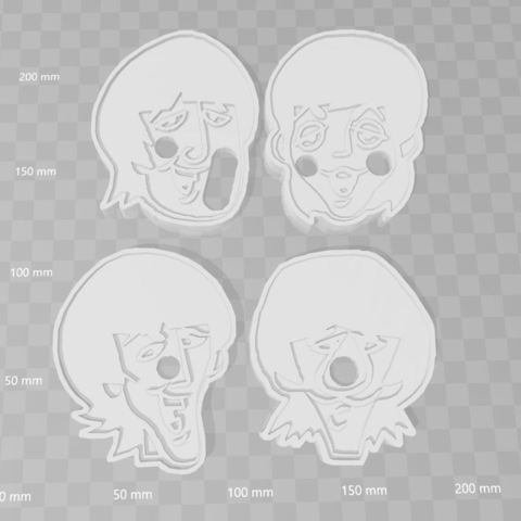 3D printer files The Beatles Cookie cutter BUNDLE SET x 4, PrintCraft