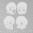 Télécharger objet 3D Les Beatles Coupe-biscuits BUNDLE SET x 4, PrintCraft