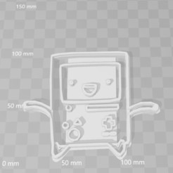3D printer files bmo adventure time cookie cutter, PrintCraft