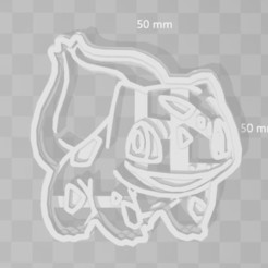 3D printing model bulbasaur pokemon cookie cutter, PrintCraft