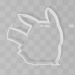 Download 3D printer templates pikachu pokemon cookie cutter, PrintCraft