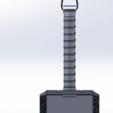 Download free STL files martillo thor (llavero), brandcorvar
